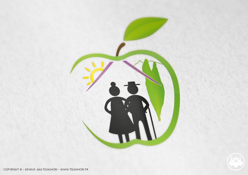 Logo - Identity - Résidence Les Vergers - Tsukimori / Kevin Barbier - Graphic Designer