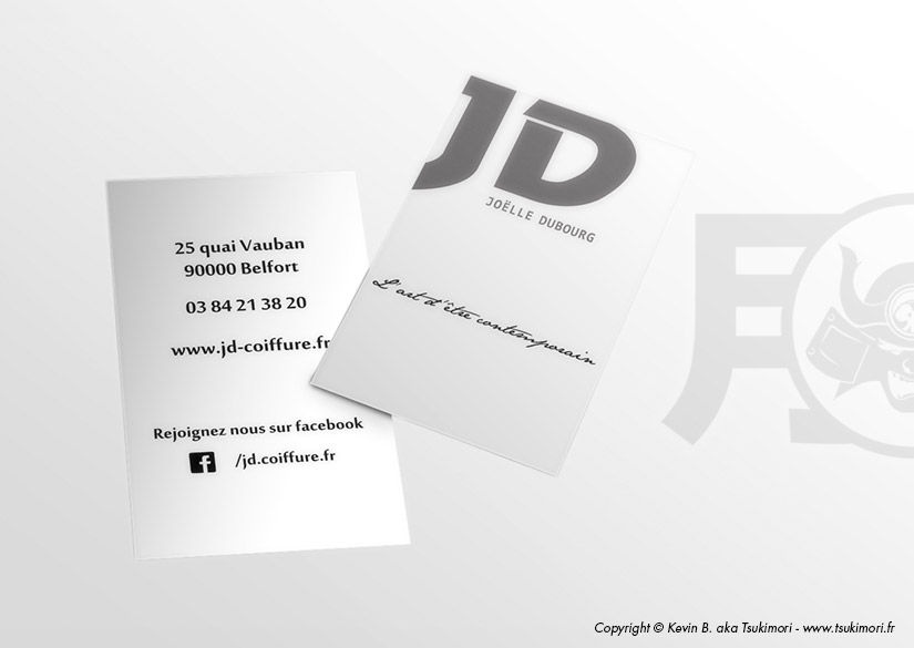 Business card - Print - JD Coiffure - Tsukimori / Kevin Barbier - Graphic Designer