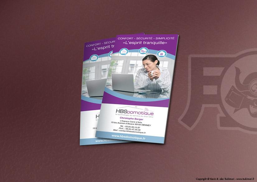 Leaflet - Print - HBS Domotique - Tsukimori / Kevin Barbier - Graphic Designer